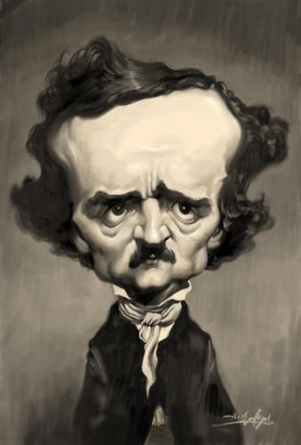 poe friday graphic representations of edgar allan poe drunk  by amir taqi