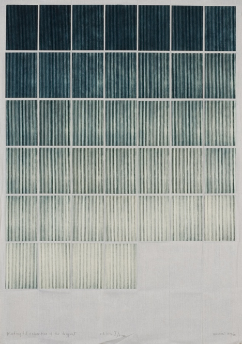 Printing Til Exhaustion (1979) by Dora Maurer